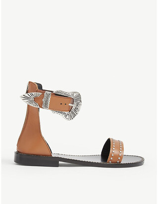 Zadig & Voltaire Ever buckle leather sandals