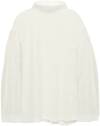 See by Chloe Crocheted Turtleneck Top