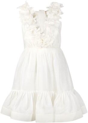 Zimmermann Ruffled Flared Sleeveless Dress