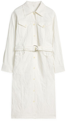 Arket Twill Shirt Dress