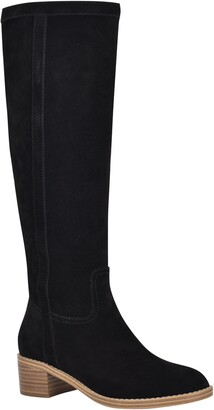 Nine West Caely Leather Riding Boot