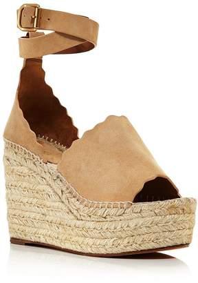 Chloé Women's Lauren Espadrille Platform Wedge Sandals
