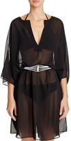 Gottex Line Light Belted Caftan Swim Cover-Up