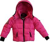 Hawke & Co Pink Glo Thumbhole Cuff Puffer Coat - Toddler & Girls