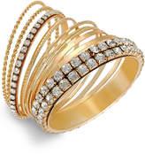 Thalia Sodi Crystal Stone Bangle Bracelet Set