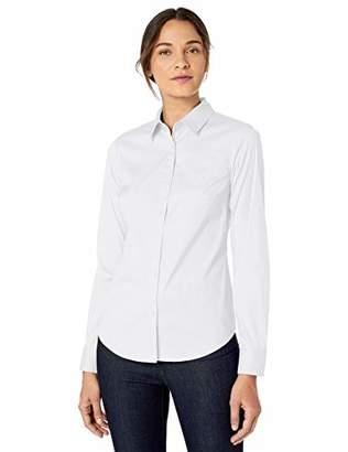 Lark & Ro Stretch Poplin Shirt Dress,12