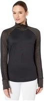 Brooks Dash 1/2 Zip (Black/Heather Black) Women's Long Sleeve Pullover