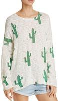 Show Me Your Mumu Varsity Cactus Print Sweater