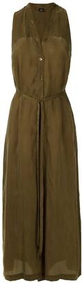 OSKLEN Button-Down Wide-Leg Jumpsuit