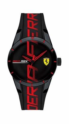 Ferrari Men's Stainless Steel Quartz Watch with Silicone Strap
