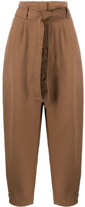 Alberta Ferretti High-Waisted Belted Trousers