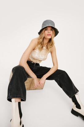 Nasty Gal Womens Dru Wide-Leg Jeans - Black - 6