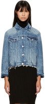 Helmut Lang Blue Denim Shrunken Tacked Jacket