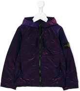 Stone Island Junior printed raincoat