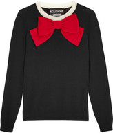 Moschino Bow-embellished Wool Sweater - Black