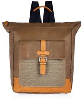 River Island Brown Canvas Tote Backpack