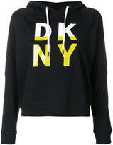 DKNY logo hooded sweatshirt