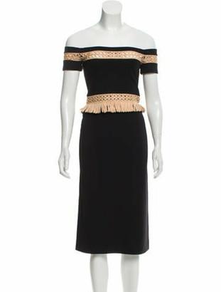 Alexis Square-Neck Sheath Dress Black