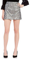 Sanctuary Lelia Side Zip Sequin Mini Skirt