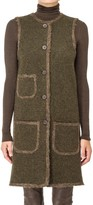 Max Studio Boiled Wool Long Vest