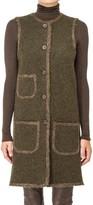 Max Studio Boiled Wool Long Vest