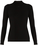 Courreges Ribbed-knit wool sweater