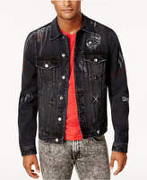 GUESS Men's Deconstructed Denim Jacket, Created For Macy's