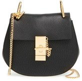 Chloé 'Mini Drew' Leather Shoulder Bag - Black