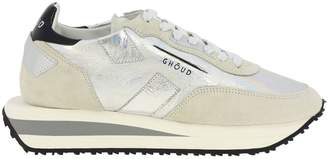 Ghoud Sneakers Rush X Ghoud Sneakers In Suede And Metallic Leather With Maxi Bicolor Rubber Sole