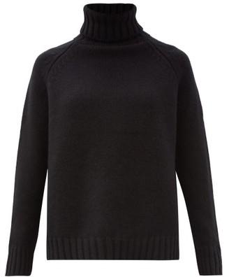 Johnstons of Elgin Sophia Roll-neck Cashmere Sweater - Black