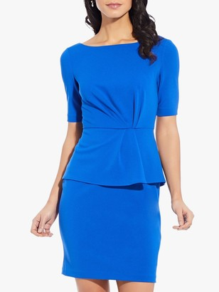 Adrianna Papell Knit Crepe Sheath Dress, Blue Sapphire