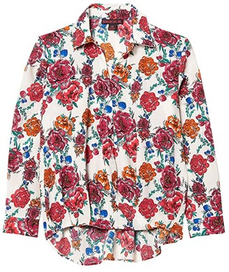 Rock and Roll Cowgirl Long Sleeve Button Print B4B4511 (Multi) Women's Clothing