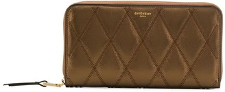 Givenchy metallic diamond quilted wallet
