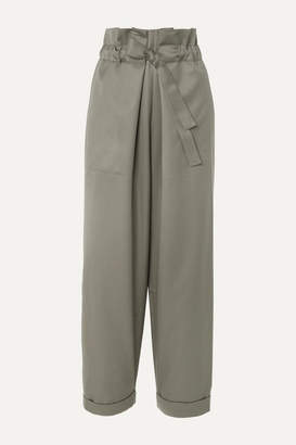Le 17 Septembre LE 17 SEPTEMBRE - Wool-twill Tapered Pants - Army green