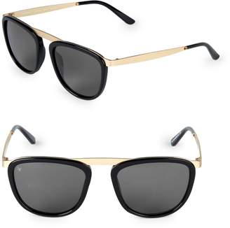 Smoke X Mirrors Pusherman 52MM Square Browline Sunglasses