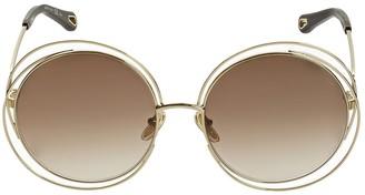 Chloé Carlina Round Metal Sunglasses