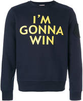 Moncler front printed sweatshirt