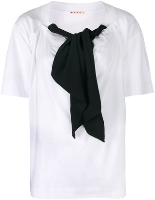 Marni bow detail blouse