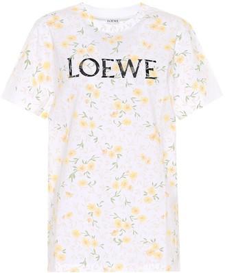 Loewe Floral logo cotton T-shirt