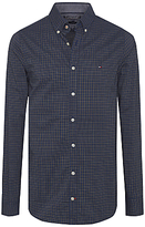 Tommy Hilfiger Brad Check Long Sleeve Shirt, Navy Blazer/arrowwood