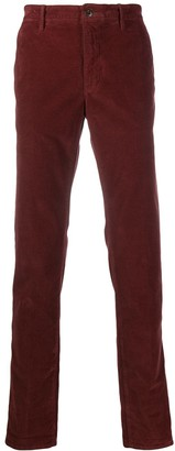 Incotex plain regular length trousers
