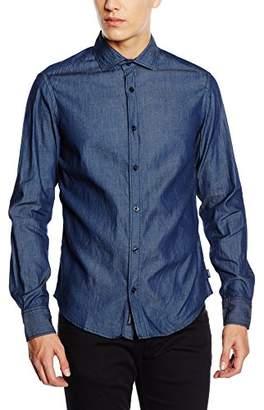 Armani Jeans Men's Regular Fit Leisure Shirt - Blue