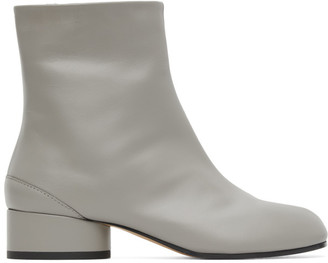 Maison Margiela Grey Low Heel Tabi Boots