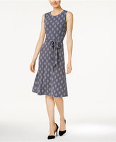 Charter Club Petite Striped Fit & Flare Dress, Only at Macy's