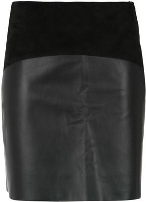 Egrey panelled skirt