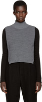Y's Ys Grey Mock Neck Collar