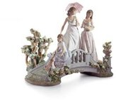 Lladro Bridge of Dreams Porcelain Sculpture with Base