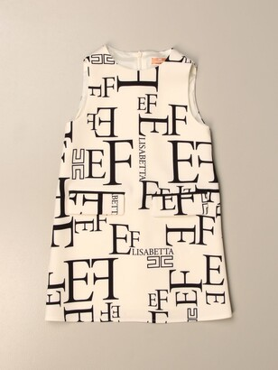 Elisabetta Franchi Short Dress With All Over Logo