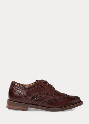 Ralph Lauren Leather Wingtip Oxford Shoe