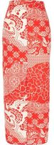 River Island Womens Red print maxi skirt